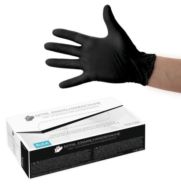 Nitril Einmal- Untersuchungshandschuhe 100 Stück/Box  schwarz Größe: M 1