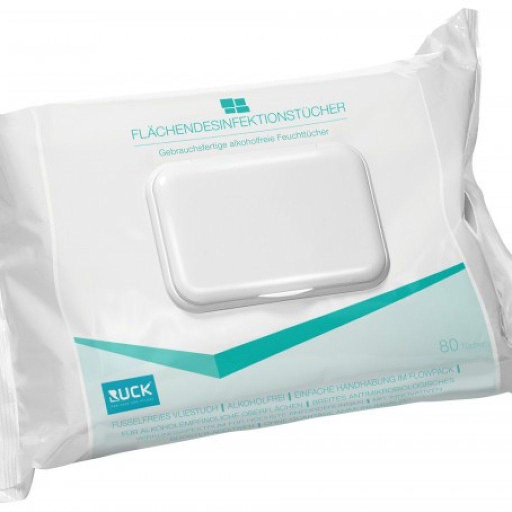 Flächendesinfektionstücher im Softpack alkoholfrei 80 Tücher Artikel Nr.: RU-2967002 1