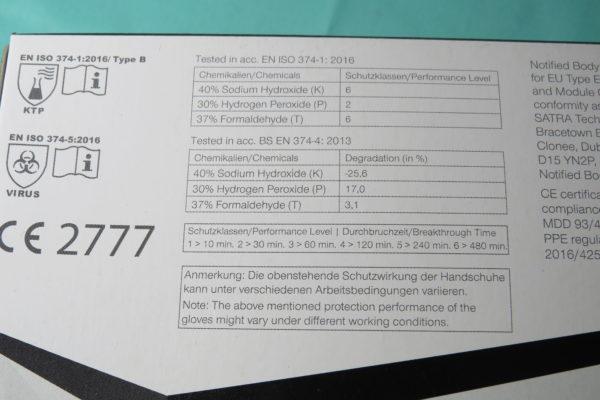 Nitril Einmal- Untersuchungshandschuhe 100 Stück/Box  schwarz Größe: M 2