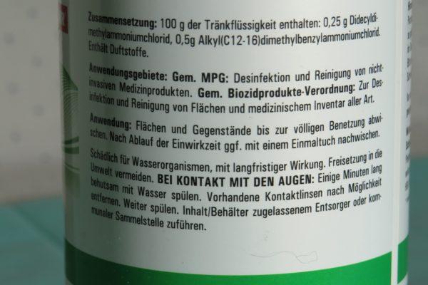 Tücher zur Schnelldesinfektion in wiederverschießbarer Dose alkoholfrei 3