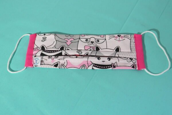 "Alltagsmaske Modell ""Liberty Cats Pink"" 2"