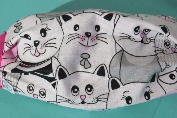 "Alltagsmaske Modell ""Liberty Cats Pink"" 3"
