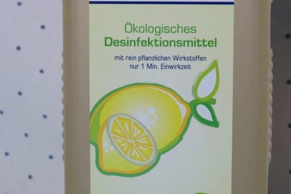 Ökologisches Desinfektionsmittel Citrofekt - Bio-Schnelldesinfektion, 1 Liter Euro-Rechteckflasche mit Klappscharnierverschluss 3