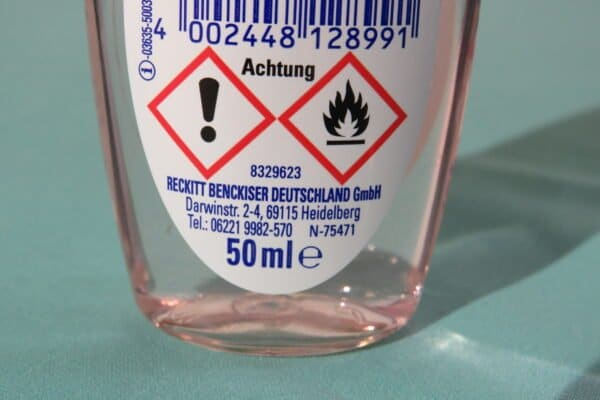 SAGROTAN Desinfektion Handgel 50ml Reisegröße Kamille&Lotus 3