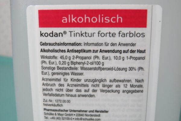 Kodan Tinktur Forte Hautdesinfektion, 1 Liter, Art.Nr. RA-5036 3