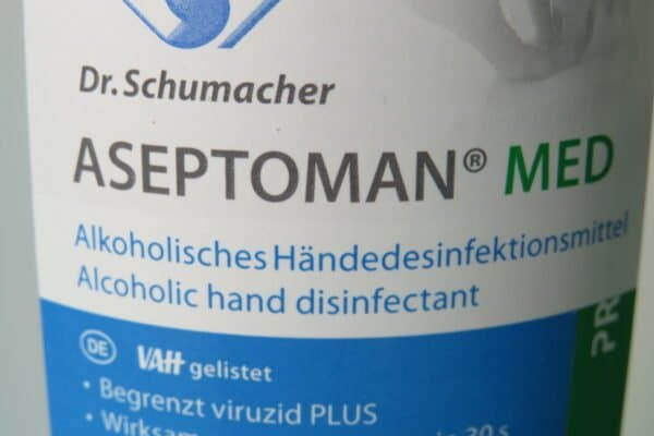 Dr. Schumacher Aseptoman MED, 500ml alkoholisches Händedesinfektionsmittel, VAH-gelistet (33,90/L) 2
