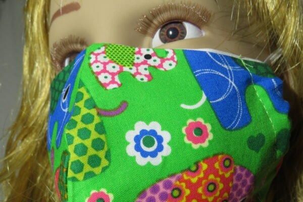 "5x Alltagsmaske Modell ""Skyline Kids Elephant"" 6"