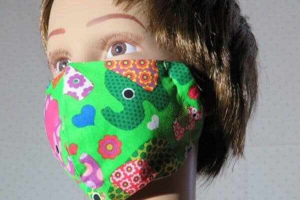 "5x Alltagsmaske Modell ""Skyline Kids Elephant"" 5"