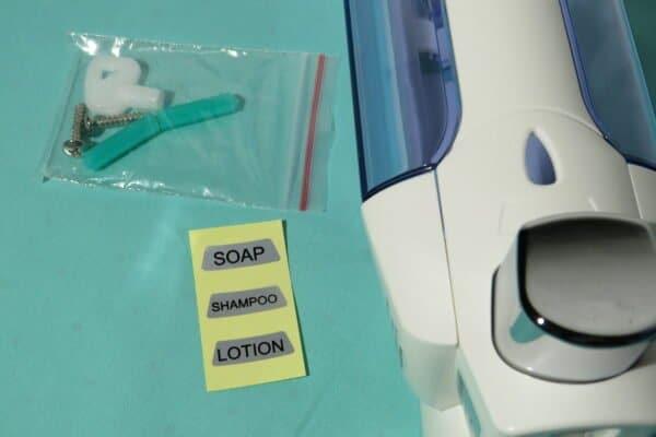 Wand-Seifen-/Desinfektionsspender Axentia, 380ml, Art.Nr. RA-6152 5