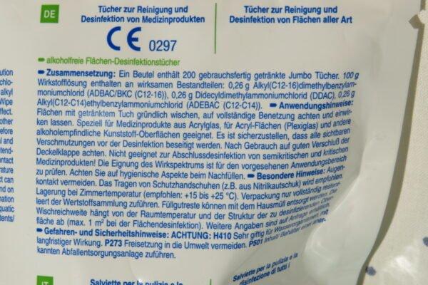 Mikrozid Sensitive Wipes, 200 Stück-ALKOHOLFREI Art.Nr. BA-10418 3