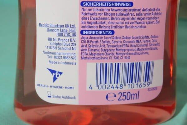 Sagrotan Samt-Schaum Handwaschschaum Kirschblüte & Rose 250 ml 4