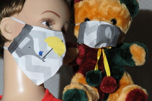 "Alltagsmaske Modell ""Kids Teddy 4"" 1"