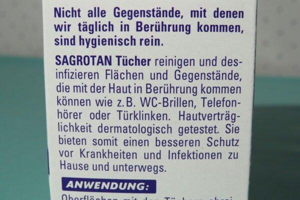 Sagrotan Desinfektionstücher 15 Stück 3-fach Schutz vor Keimen: Bakterien, Spezielle Pilze, Viren 4