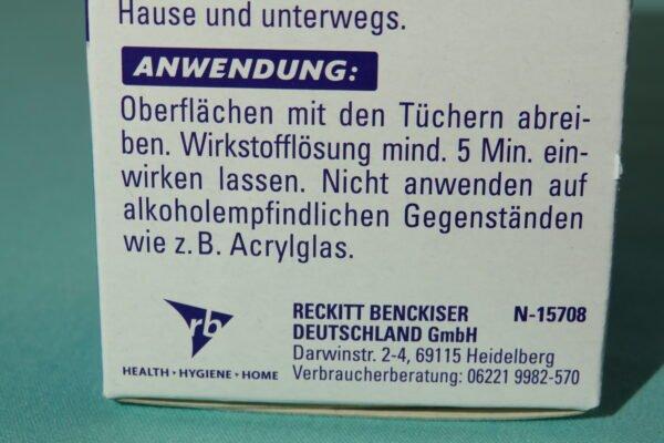 Sagrotan Desinfektionstücher 15 Stück 3-fach Schutz vor Keimen: Bakterien, Spezielle Pilze, Viren 5