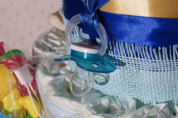 Windeltorte *Äffchen* Geschenk zur Geburt, Taufe, Babyparty o. als Mitbringsel 5