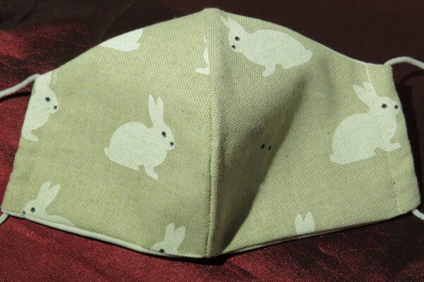 """Alltagsmaske Modell """"Skyline White Rabbit"""" 2"""