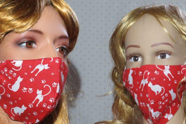 "2x Alltagsmaske Modell ""Skyline Mutter und Tochter A"" 1"
