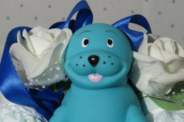 *Windeltorte-Seehund * Geschenk zur Geburt, Taufe, Babyparty * handgefertigt * 1