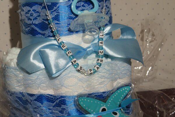 *Windeltorte-Seehund * Geschenk zur Geburt, Taufe, Babyparty * handgefertigt * 4