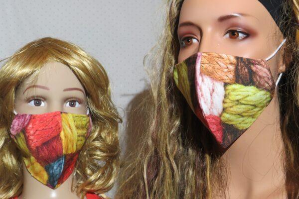 "2x Alltagsmaske Modell ""Skyline Mutter und Tochter A3+"" 1"