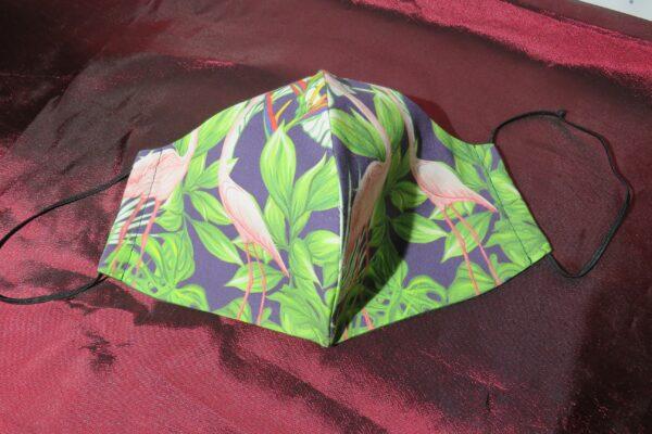 "Alltagsmaske Modell ""Skyline Flamingo Garden"" 2"