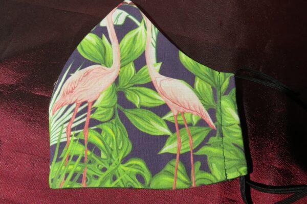 "Alltagsmaske Modell ""Skyline Flamingo Garden"" 4"
