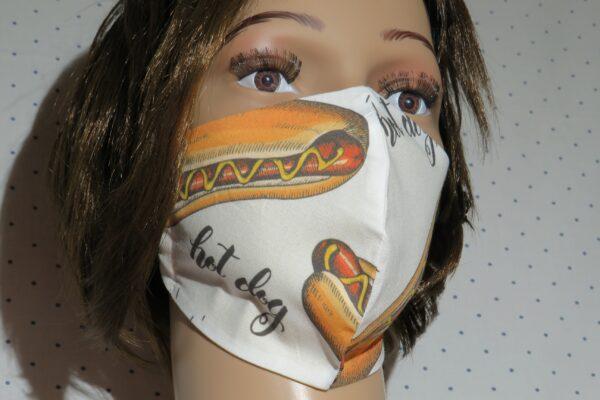 """Alltagsmaske Modell """"Skyline Hotdog"""" 1"""