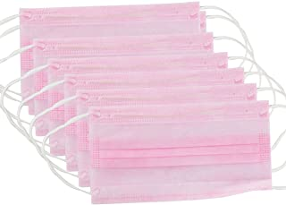Mundschutz Pink, 10 Stück Packung, latex-&glasfaserfrei  99% Filterleistung 1