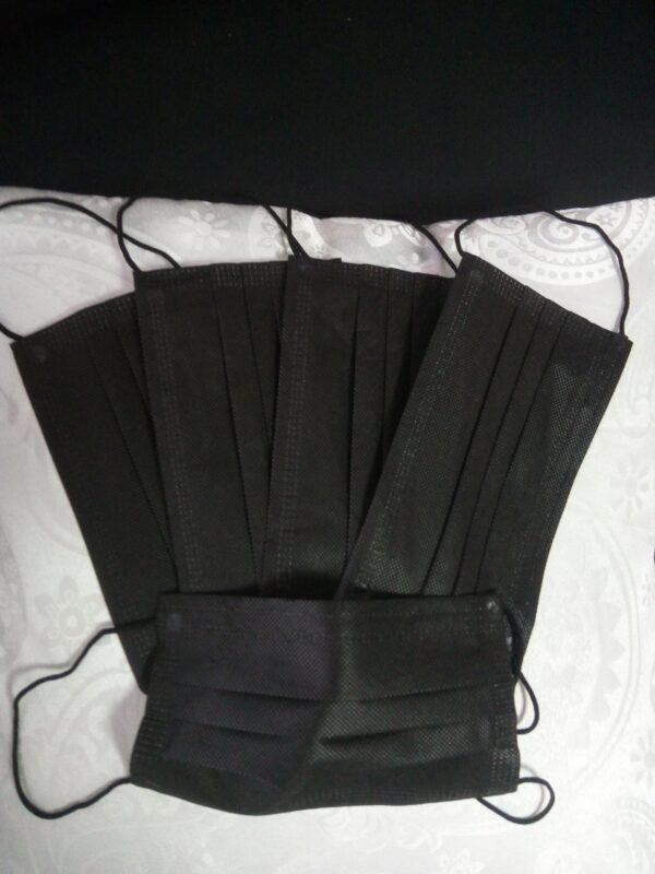 10 Stück schwarz Mundschutz Nasenschutz Atemschutz Einweg 3 lagig 1