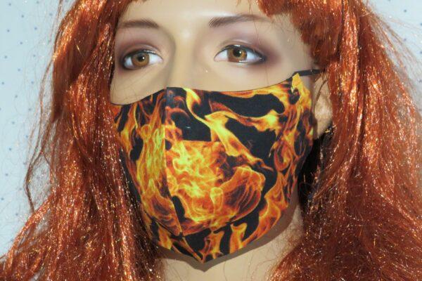 """Alltagsmaske Modell """"Skyline Flammen"""" 1"""