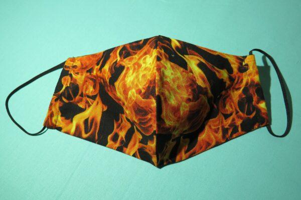 """Alltagsmaske Modell """"Skyline Flammen"""" 2"""