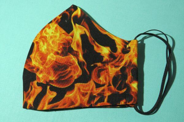 """Alltagsmaske Modell """"Skyline Flammen"""" 4"""