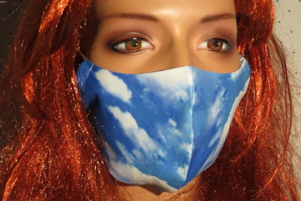 "Alltagsmaske Modell ""Skyline Wolken"" 1"