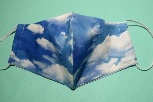 "Alltagsmaske Modell ""Skyline Wolken"" 2"