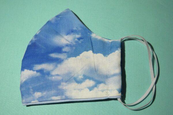 "Alltagsmaske Modell ""Skyline Wolken"" 4"