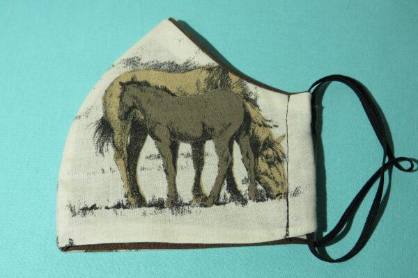 """Alltagsmaske Modell """"Skyline Pferde"""" 4"""
