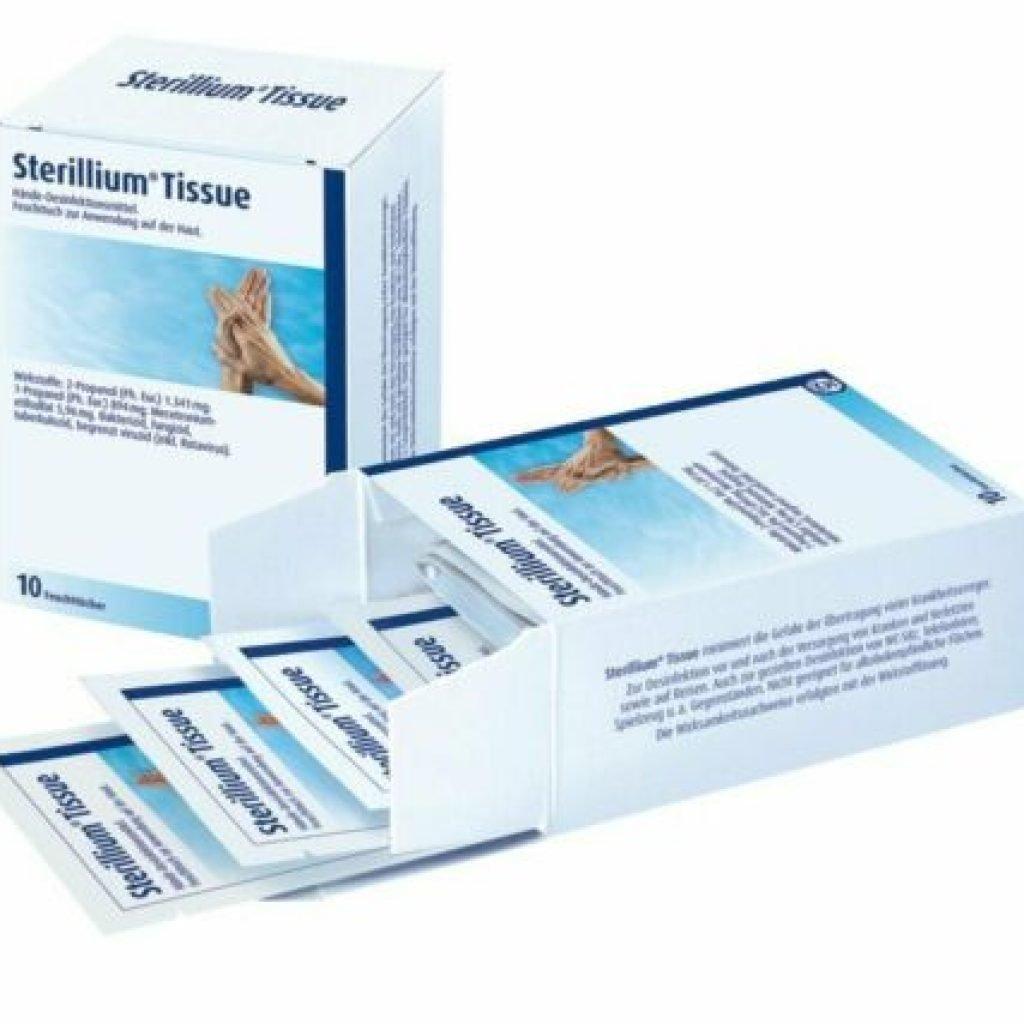 Sterillium Tissue, 10 Feuchttücher, Händedesinfektion MHD 04/2025 1