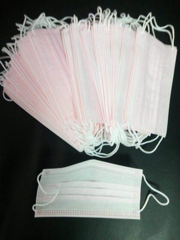 50 Stück ROSA Mundschutz OP Nasenschutz Atemschutz Einweg  3 lagig 3