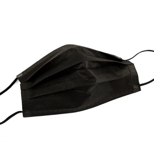 50 Stück OP Mundschutz Typ II schwarz Nasenschutz Atemschutz Einweg 3 lagig 4