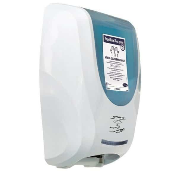 Wand-Desinfektionsspender, CleanSafe Touchless inkl. 1000ml Sterillium Gel Pure 1