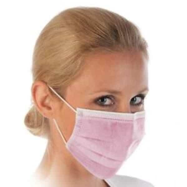 50 Stück ROSA Mundschutz OP Nasenschutz Atemschutz Einweg  3 lagig 1