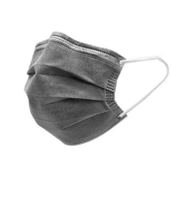 50 Stück  Mundschutz - GRAU  OP Nasenschutz Atemschutz Einweg 3 lagig 1