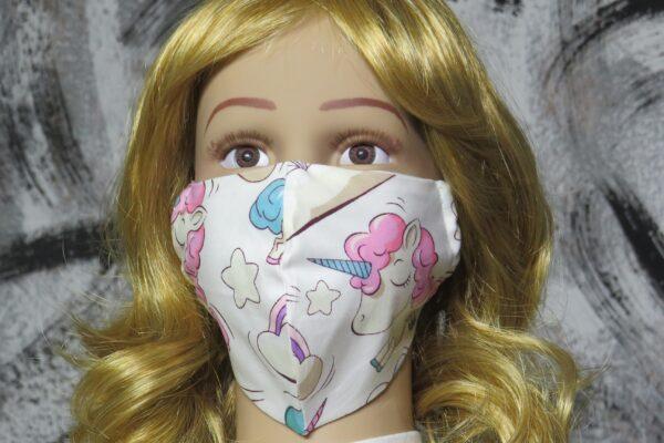 "Alltagsmaske Modell ""Skyline Kids Pink Unicorn"" 1"