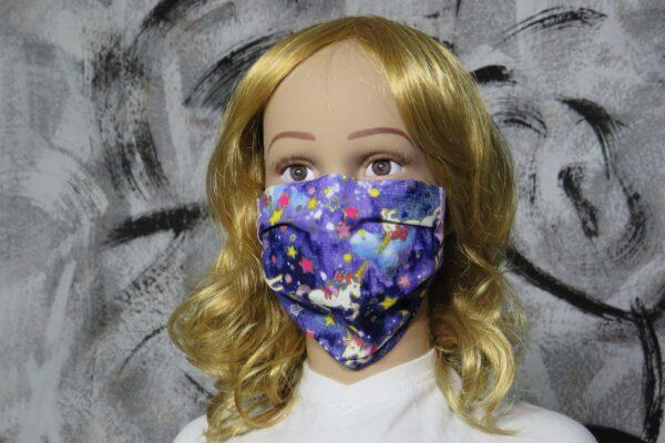 "Alltagsmaske Modell ""Liberty Kids Unicorn Stars"" 1"