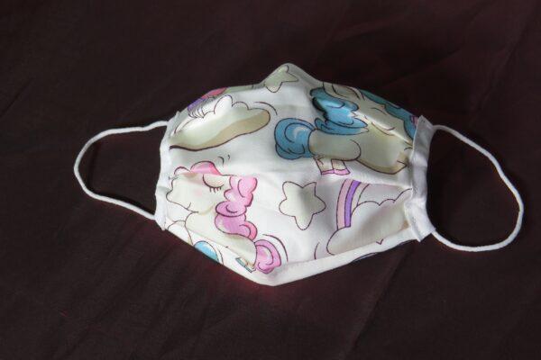 "Alltagsmaske Modell ""Liberty Kids Pink Unicorn"" 2"
