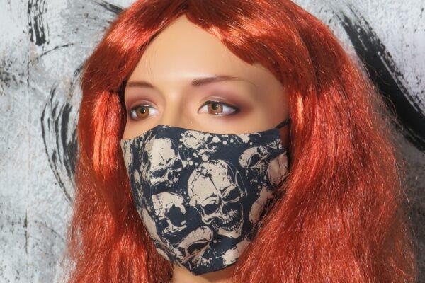 """Alltagsmaske Modell """"Skyline Black Skull"""" 1"""