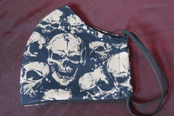 """Alltagsmaske Modell """"Skyline Black Skull"""" 4"""