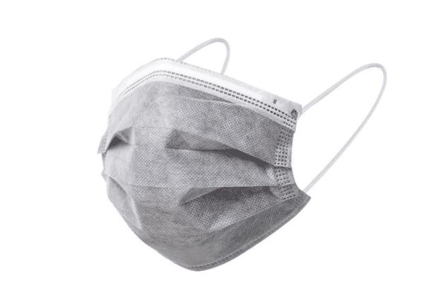 10 Stück Mundschutz - GRAU  OP Nasenschutz Atemschutz Einweg 3-lagig 1