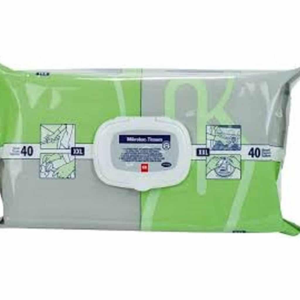 Mikrobac® Tissues  Alkoholfreie Desinfektionstücher 40 Tücher XXL 1