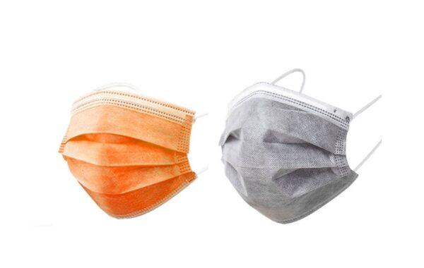 15 x orange/ 15 x grauer Mundschutz OP Nasenschutz Atemschutz Einweg  3 lagig 1